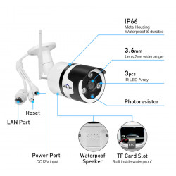 Waterproof 1080p IP Camera